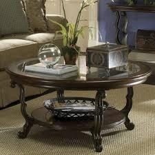 pedestal coffee table shelf home ideas collection genoa round with glass top dark esp