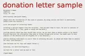 Donation Letter Samples Sample Charity Donation Letter Fastlunchrockco Sample Donation
