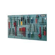 clarke garage steel tool rack wall