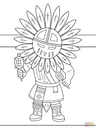 Native Americans Coloring Pages Free Sheets American Symbols 9