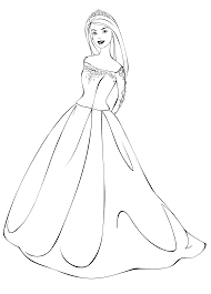 Small Picture Coloring page Barbie in a wedding dress