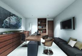 office furnishing ideas. Outstanding Small Office Interior Design Ideas With Modern Brown Exiting Home Decorating Nice Pure White Colo Scheme And Remarkable Furnishing D