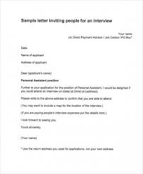 job interview template collection of solutions sample of job interview invitation letter