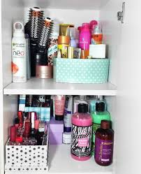 hair care and skin items are on their own shelves the s in back is its