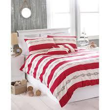 striped duvet cover red