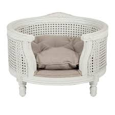 luxury pet furniture. George Ecru Linen Webbing Luxury Dog Bed Pet Furniture