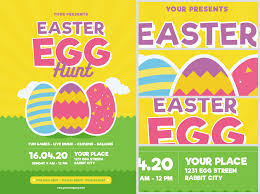 easter egg hunt template easter event flyer template easter egg hunt flyer template v3