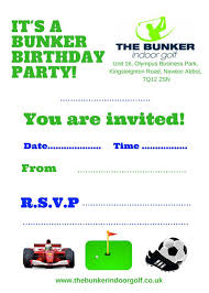 Download Your Party Invitations The Bunker Indoor Golf