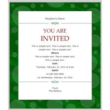 Business Party Invitation Template Lisut