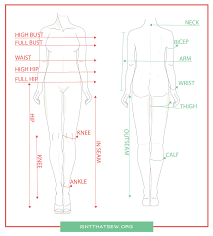 Printable Body Measurement Online Charts Collection