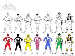 Mighty Morphin Power Rangers Coloring Pages Line Art By Debochira