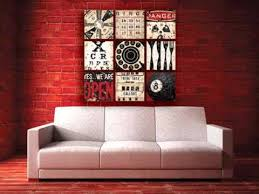 red wall decor