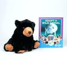 plush stuffed animal rugs black bear rug