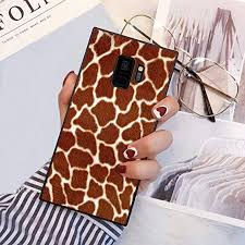 YaoLang Samsung Galaxy S9 Square Edges Case, Giraffe <b>Fluff</b> ...