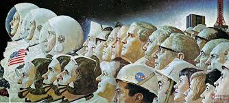 space exploration s future apollo program and spacex apollo space program 1969 norman rockwell art ""