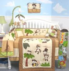 attractive baby bedding crib set for baby room decoration endearing image of jungle baby