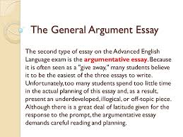 the general argument essay the second type of essay on the the general argument essay the second type of essay on the advanced english language exam is