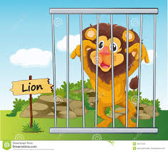 zoo animals in cages clipart. Beautiful Zoo Lion In Cage Inside Zoo Animals In Cages Clipart G