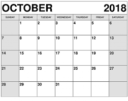 pdf printable calendar printable calendar october 2018 pdf template free printable