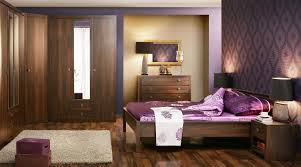 Purple And Brown Bedroom Interior Elegant Bedroom Purple Interior Design Wooden Sideboard