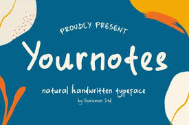 Handwriting cursive · script · feminine. Yournotes Font By Garisman Studio Creative Fabrica In 2020 Free Script Fonts Best Free Script Fonts Best Free Fonts