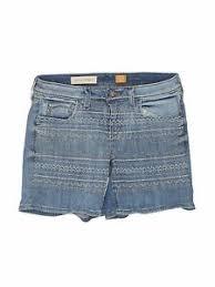Details About Pilcro And The Letterpress Women Blue Denim Shorts 28w