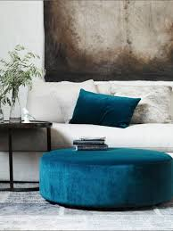 large round ottoman coffee table photos and pillow