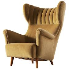 large italian wingback chair in mohair from a unique collection of antique and modern wingback
