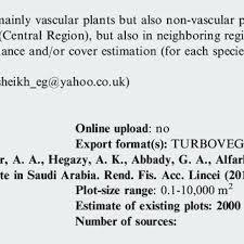 Fact Sheet On A Saudi Vegetation Database Svd This Fact Sheet
