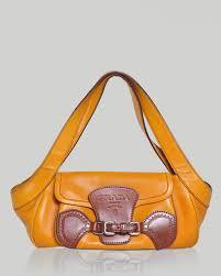 Designer Bags Made In Italy Prada Pre Loved Two Tone Genuine Leather Handbag Made In