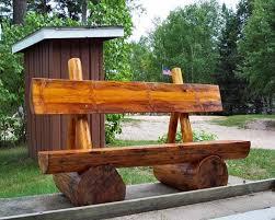 diy outdoor log furniture. Rustic Log Benches Furniture Designs Medium Size Diy Outdoor .