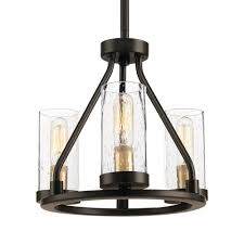 progress lighting hartwell 3 light antique bronze mini pendant with clear seeded glass and
