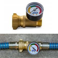 details about water hose pressure regulator with gauge rv br inline garden plumbing valve