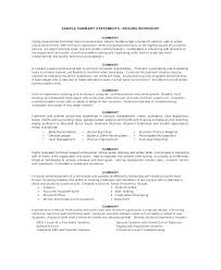 Resume Profile Summary Example Bezholesterol Custom Resume Profile Summary