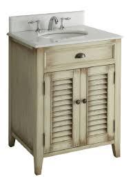 Distressed Bathroom Cabinet Beach Cottage Bathroom Vanity Free Image