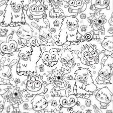 Moshi Monsters Coloring Pages Coloringpages321 Com