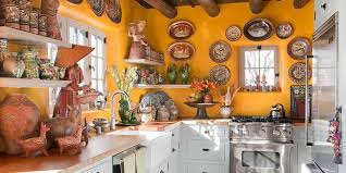 There's no rule that says a kitchen has to be just about cooking. This New Mexico  kitchen by Judith Espinar, Jim Deville, and Scott Robey is painted in a ...