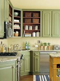 Painting Inside Kitchen Cabinets Stunning LowCost Cabinet Makeovers For The Home Pinterest Green