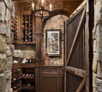 wine room lighting. Wine Room Lighting Cellar Rustic With Candle Chandelier Tile Floor Wood Door N