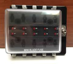 mini blade fuse block holder led indicator marine boat 10 gang us rv fuse box inverter mini blade fuse block holder led indicator marine boat 10 gang u