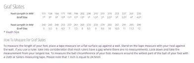 Graf Size Chart Graf Boot Size Chart Skaters Landing