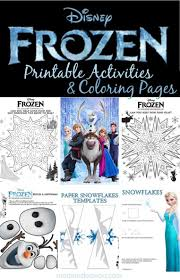 Disney Frozen Printable Actvities Coloring Pages