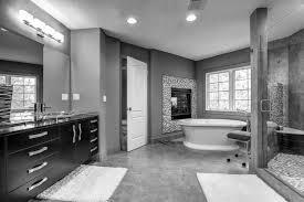 bathroom-black-wooden-bathroom-vanity-and-large-mirror- ...
