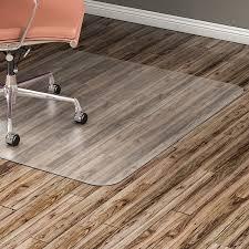 lorell hard floor rectangular chairmat tile floor vinyl floor hardwood floor 48 length x 36 width x 60 mil thickness rectangle vinyl clear