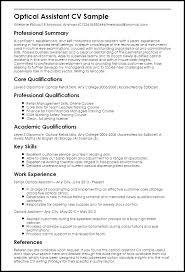 Optometry Assistant Resume Sales Free Template Word Optometric
