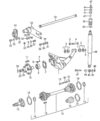 porsche rear suspension parts includes koni and boge shock rear suspension components