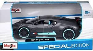 Looking sleek in a silver hue and neat exterior, bburago's bugatti atlantic with a sophisticated touch is synonymous to speed and excellent 1:24 scale model which came with good packing (undamaged box). Bugatti Divo Grey 1 24 Scale Diecast Car Model By Maisto 31526