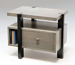 Fantastic Design Of The Bedroom Side Tables With Grey Wooden Table Ideas  Added Black Shiny Legs