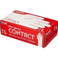 <b>Перчатки Paclan латексные</b> опудренные размер L 100 штук в ...