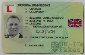 Licence Uk Driving Id Provisional Fake